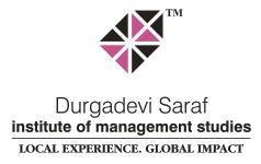 DURGADEVI SARAF INSTITUTE OF MANAGEMENT STUDIES